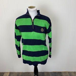 Ralph Lauren Striped Quarter Zip Sweater